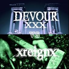 """X Devour X / xreignx split 7"""" BLACK"""