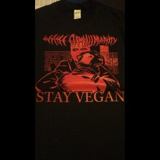 Wake Of Humanity - Stay Vegan (black shirt) size S