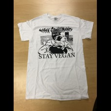 Wake Of Humanity - Stay Vegan (white shirt) size L